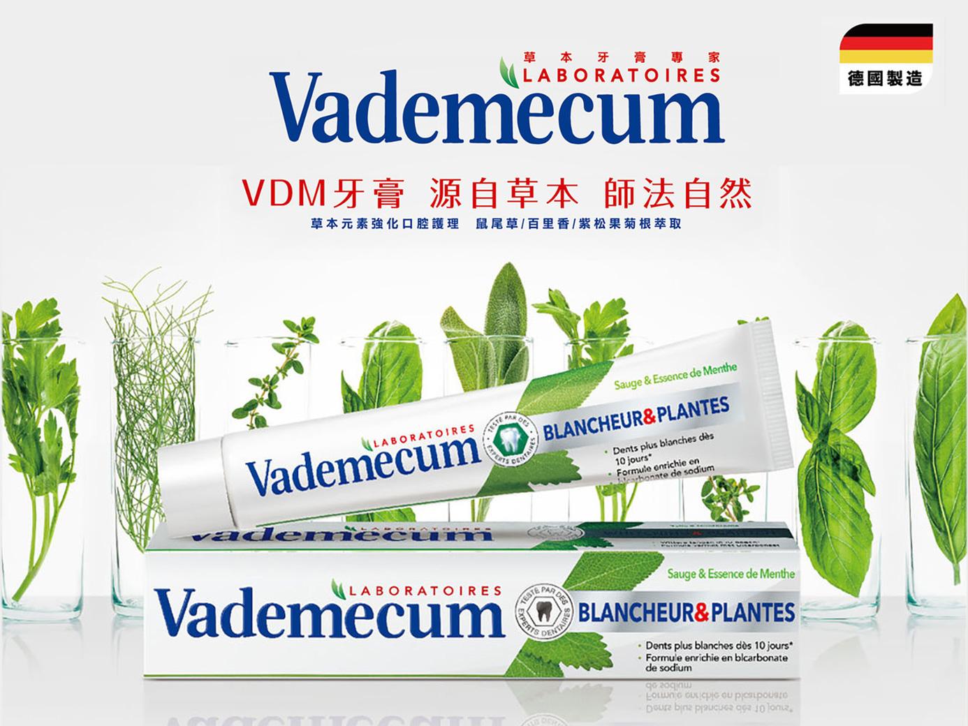 師法自然的口腔專家 VDM草本清新健齒牙膏