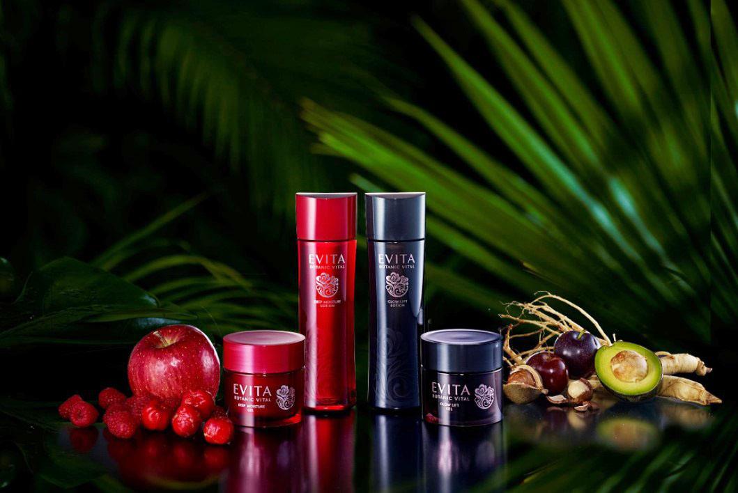 植萃源生力,綻放彈潤美麗!EVITA艾薇塔-紅玫瑰潤澤、黑玫瑰緊緻系列,為肌膚注入豐沛水潤,打造肌膚生命力